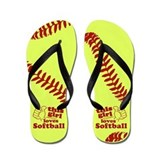 Softball girl Flip Flops