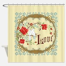 Vintage Love Doves Shower Curtain