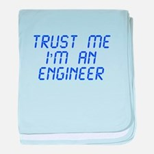 trust-me-Im-an-engineer-LCD-BLUE baby blanket