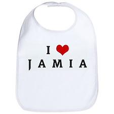 I Love J  A  M  I  A Bib
