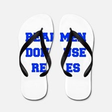 real-men-dont-use-recipes fresh blue Flip Flops