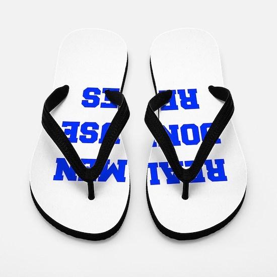 real-men-dont-use-recipes fresh blue Flip Flops