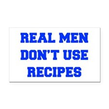 real-men-dont-use-recipes fresh blue Rectangle Car