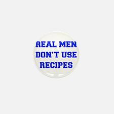 real-men-dont-use-recipes fresh blue Mini Button (