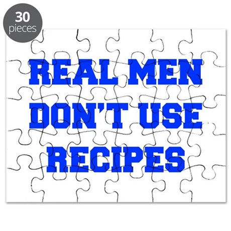 real-men-dont-use-recipes fresh blue Puzzle