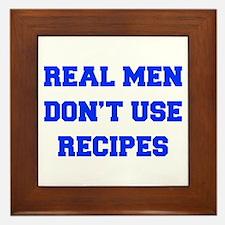 real-men-dont-use-recipes fresh blue Framed Tile