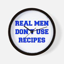 real-men-dont-use-recipes fresh blue Wall Clock