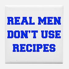 real-men-dont-use-recipes fresh blue Tile Coaster