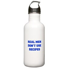 real-men-dont-use-recipes fresh blue Water Bottle