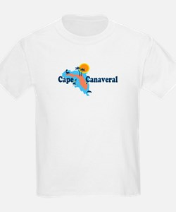 Cape Canaveral - Map Design. T-Shirt
