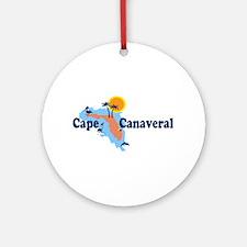 Cape Canaveral - Map Design. Ornament (Round)