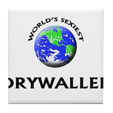 World's Sexiest Drywaller Tile Coaster