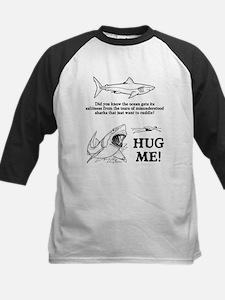 Sharks need hugs Kids Baseball Jersey