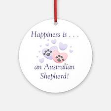 Happiness is...an Australian Shepherd Ornament (Ro
