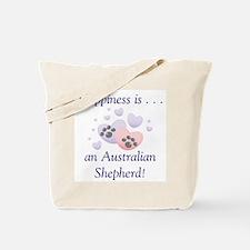 Happiness is...an Australian Shepherd Tote Bag