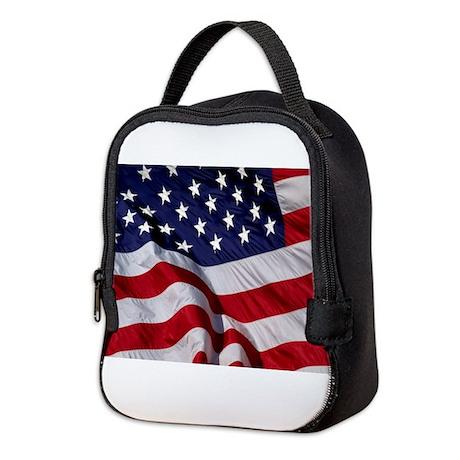 American Flag Neoprene Lunch Bag