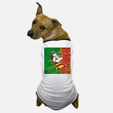 Cute Xmas Snowman on Christmas bell Dog T-Shirt