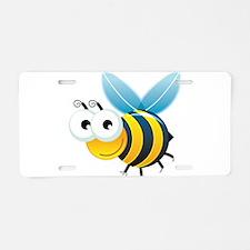 Happy Bee Aluminum License Plate