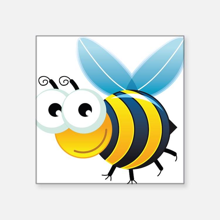 Happy Bee Sticker