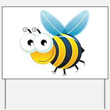 Happy Bee Yard Sign
