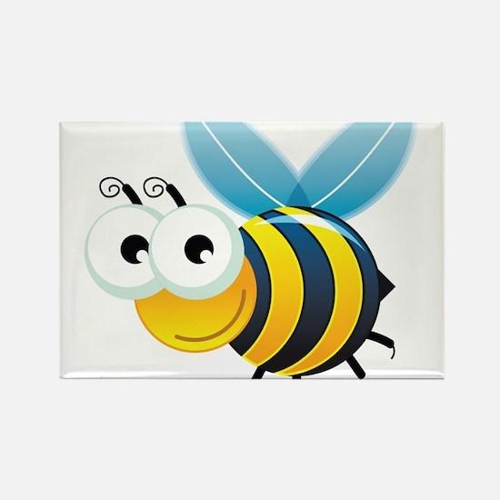 Happy Bee Rectangle Magnet
