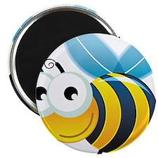 "Happy Bee 2.25"" Magnet (10 pack)"