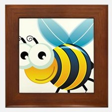 Happy Bee Framed Tile