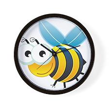 Happy Bee Wall Clock