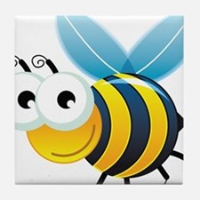 Happy Bee Tile Coaster