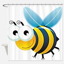 Happy Bee Shower Curtain