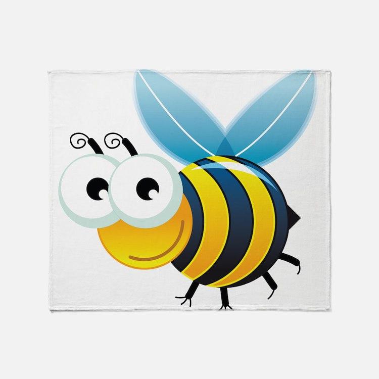 Happy Bee Throw Blanket