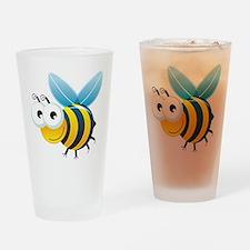 Happy Bee Drinking Glass