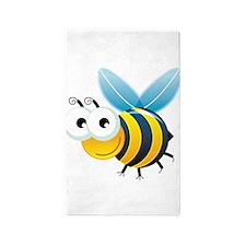 Happy Bee 3'x5' Area Rug