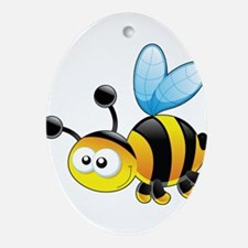 Cartoon Bee Ornament (Oval)