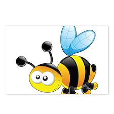 Cartoon Bee Postcards (Package of 8)