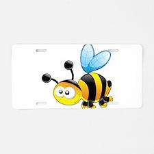 Cartoon Bee Aluminum License Plate