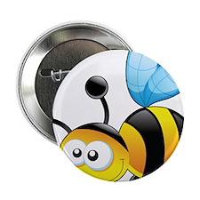 """Cartoon Bee 2.25"""" Button (10 pack)"""