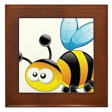 Cartoon Bee Framed Tile