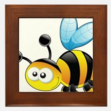 Cartoon Bee Framed Tile