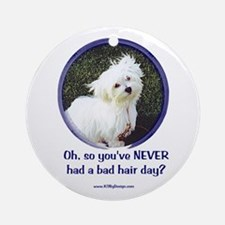 Bad Hair Day Ornament (Round)