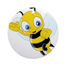 Jumping Bee Ornament (Round)