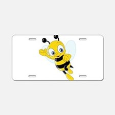 Jumping Bee Aluminum License Plate