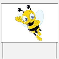 Jumping Bee Yard Sign