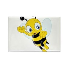 Jumping Bee Rectangle Magnet