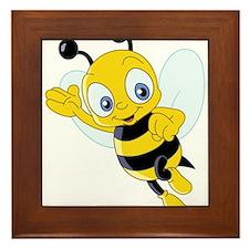 Jumping Bee Framed Tile