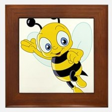 Jumping Bee Framed Tile