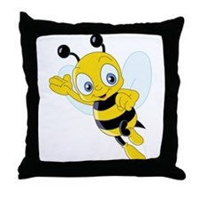 Jumping Bee Throw Pillow