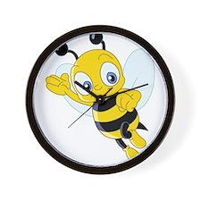 Jumping Bee Wall Clock