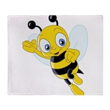 Jumping Bee Throw Blanket