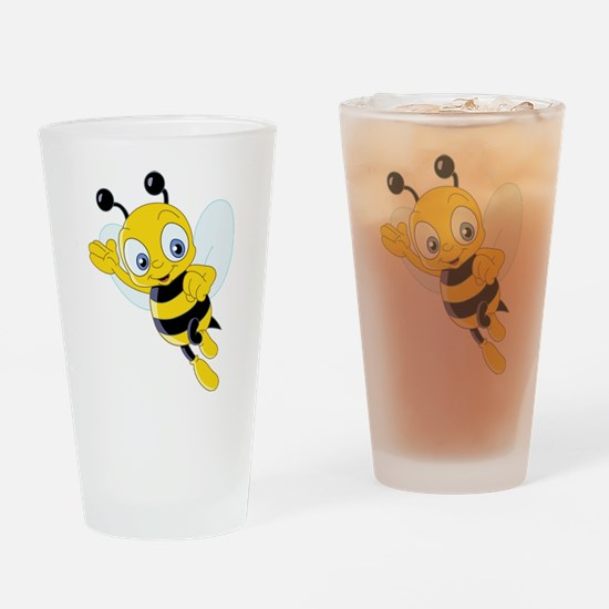Jumping Bee Drinking Glass